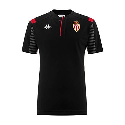 Kappa Angat 3 Monaco T-Shirts, Chemises et Polos Noir/Rouge FR: L (Taille Fabricant: L)