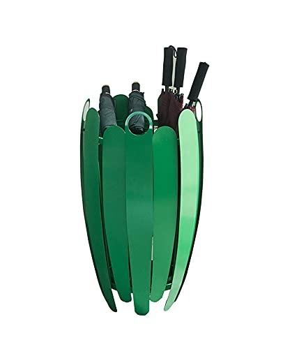 JKMINSA Paraguas Cubo De Metal, Paragüero Clubs Pasillos Restaurantes Salas De Estar Supermercados Estante De Almacenamiento De Hierro Soporte para Paraguas 45 * 75cm (Color : Green)
