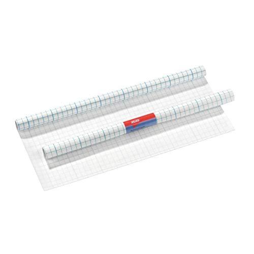 Herlitz 5161104 Bucheinschlagfolie, selbstklebend, 40 x 100 cm, transparent
