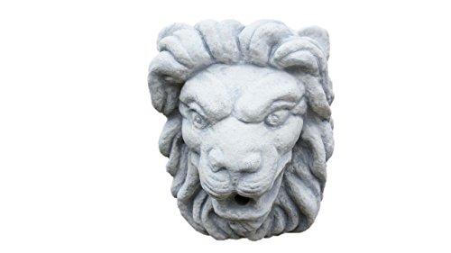 Steinfigur Löwenkopf, Wasserspeier für die Wand, aus Steinguss
