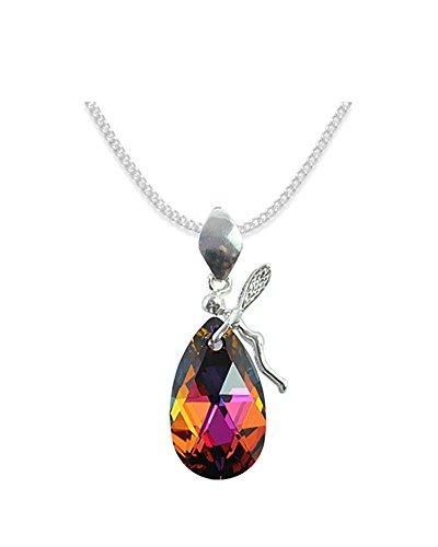 Crystals & Stones *ALMOND* *MANDEL* Elf Stil Swarovski Elements - Farbe *Volcano* Schön Damen Halskette - Anhänger Halskette Schmuck Mutter Geschenk mit Kristallen von Swarovski