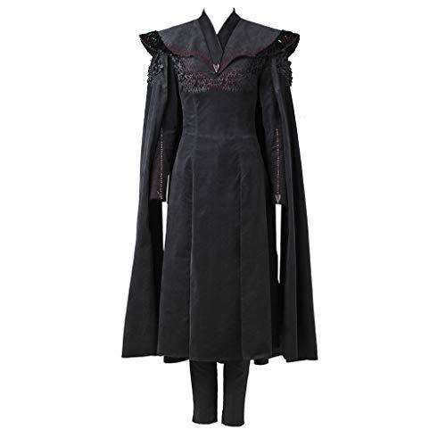 CosplayDiy Women's Dress for Game of Thrones VII Daenerys Targaryen Cosplay S Black