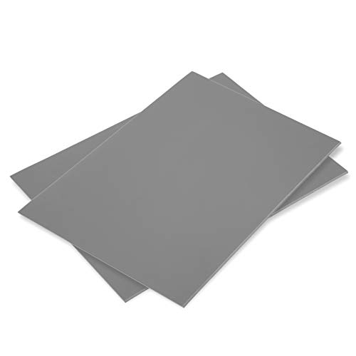 Falling in Art Soft Linoleum Carving Block, 9 Inches by 12 Inches, Grey, 2-Pack