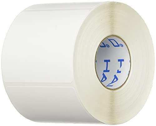 新盛インダストリーズ HALLO 50T43SG サーマル上質紙ギャップラベル 無地 強粘 四角 1巻400枚 10巻入り サイズ:幅50mm×長さ43mm