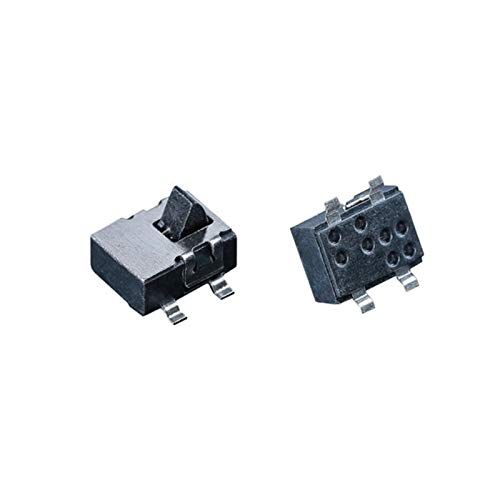 Interruptores de palanca Interruptor de detección humidificador 10pcs 4 Pin Mini restablecimiento del interruptor deslizante Micro interruptor de palanca del interruptor en miniatura Componente electr