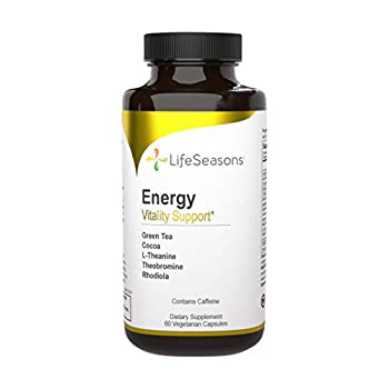 LifeSeasons - Energy - Energy Booster for Physical and Cognitive Strength - No Jitters - Support Stamina - Contains Green Tea and L-Theanine - 60 Capsules