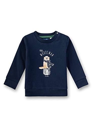 Sanetta Baby-Jungen Sweatshirt, Blau (Shadow Blue 582), 68 (Herstellergröße: 068)
