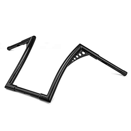 """WeiSen Gloss Black 14"""" Ape Hangers Monkey Handlebar 1-1/4"""" Handle Bars Compatible with Harley Dyna Softail Sportster XL 883 1200 & Touring Road Glide/Road King"""