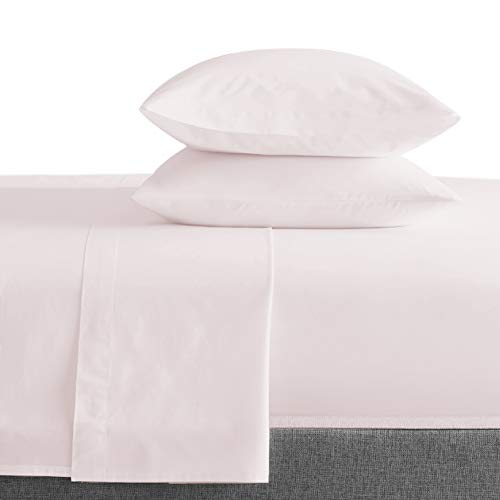 Bokser Home 500 Thread Count 100% Long Staple Cotton Sateen Bed Sheets | Size: Full - Blush | Luxurious, Ultra Soft, and Smooth 4 Piece Set | Extra Deep Pockets to Fit Any Mattress
