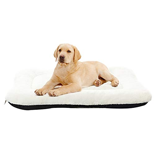 ANWA Medium Dog Bed Pet Cushion Crate Bed Soft Pad Washable Kennel Bed 24/30/36/40 INCH