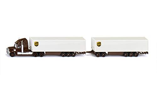Siku 376890 1806, Road Train, Zugmaschine mit Auflieger und Anhänger, 1:87, Metall/Kunststoff, Multicolor