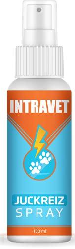Saint Nutrition® Intravet - Juckreiz Spray für Haustiere, Naturprodukt & HOCHWIRKSAM bei Juckreiz oder Entzündungen - Pflegt Haut & Fell bei Läuse, Flöhe oder Milben, auch Grasmilben bei Katze & Hund
