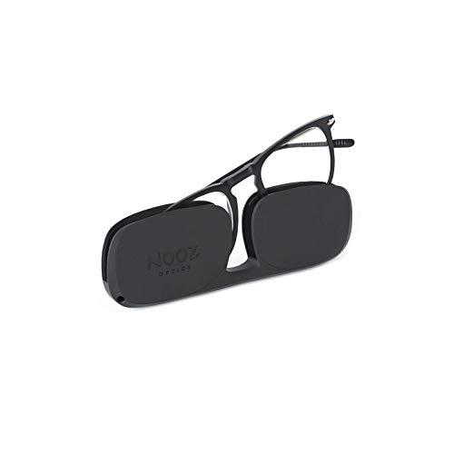 Nooz Optics - Blaulichtfilter brille ohne sehstärke Damen und Herren für Bildschirm, Smartphone, Gaming oder Fernsehen - Quadratische Form - Schwarze Farbe - Dino Collection