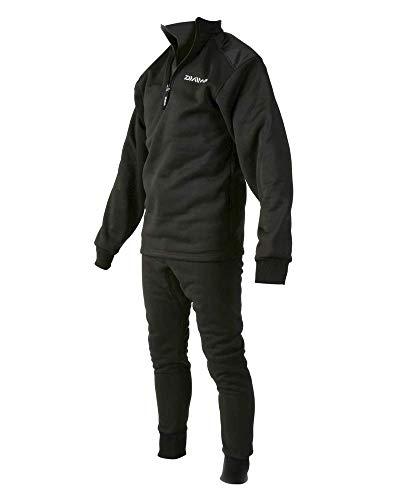 Daiwa Thermo-Schlafanzug, 2-teilig, inkl. Nackenwärmer L Schwarz