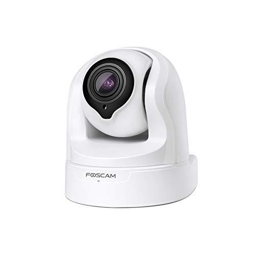 Foscam FI9926P 1080P Pan/Tilt/Zoom 2.4 / 5Ghz Cámara Seguridad IP WiFi Dual, Zoom óptico 4X, detección de Movimiento/Sonido, Visión Nocturna,