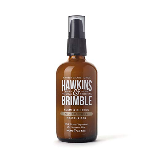 Hawkins & Brimble Mens Oil Control Moisturizer 100ml / 3.4 fl oz - Mattifying Oily Skin Balancing...