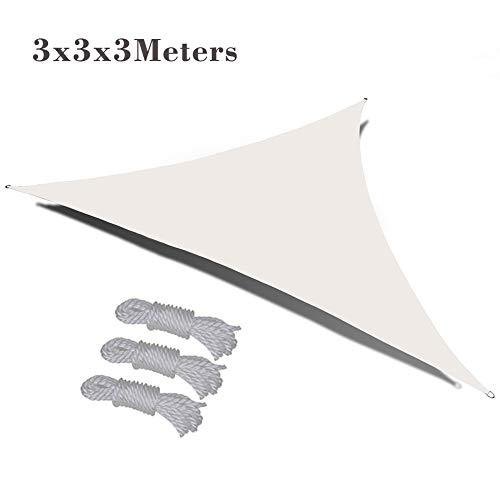 VKTY Toldo triangular de 10 x 10 x 10 cm, impermeable, para patio, jardín, patio al aire libre