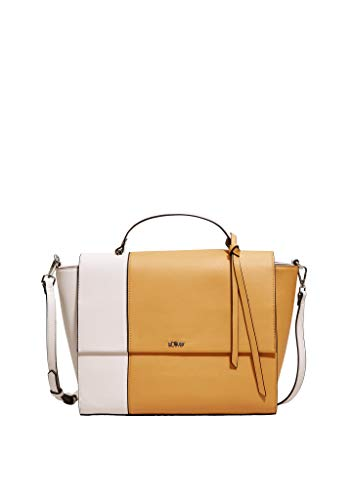 s.Oliver RED LABEL Damen Shoulder Bag im Two Tone-Look amber yellow 1