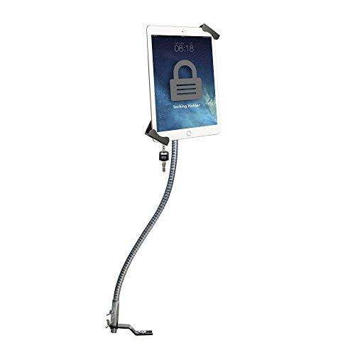 CTA Digital: Anti-Theft Tablet Holder, Gooseneck, No-Drill, Seat Rail Mount for Apple iPad 10.2-Inch (7th & 8th Gen.)/iPad Mini 5/iPad Air 3/12.9-Inch iPad Pro/iPad 6/Surface Pro/Galaxy Tab & More