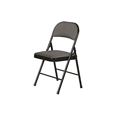 Fabric Padded Folding Chair Gray 4 Pack