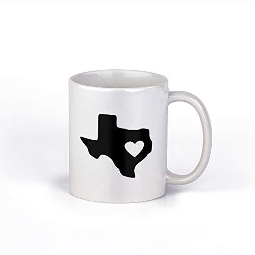 Heart in Texas Ceramic Coffee Mug | Lone Star State Coffee Cup |11-Ounce Coffee Mug | M128