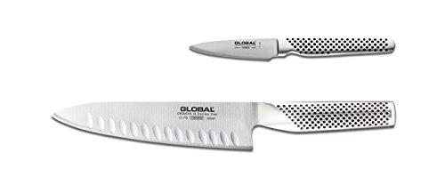 Global 2 Piece Knife Set, 2.3, Silver