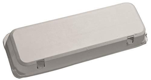 Blank 12-Egg Flat Top Paper Pulp Carton - 50 Pack