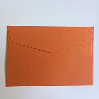 50 Pcs/Lot Retro Candy 10 Colours Blank Mini Paper Envelopes Wedding Party Invitation Greeting Cards Gift (Color : Orange)