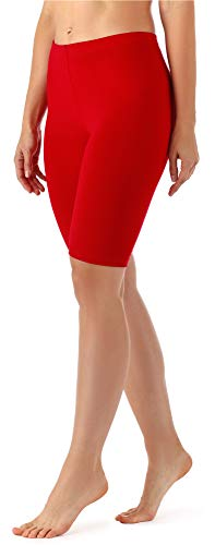 Merry Style Damen Kurze Leggings aus Viskose MS10-145 (Rot, M)