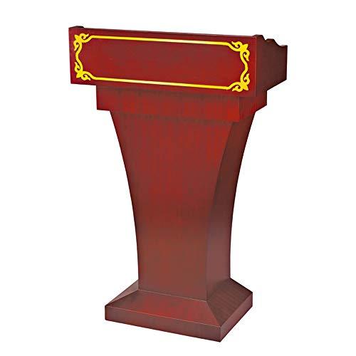 Podium Hochwertige Massivholz-Konferenz Speaking Schreibtisch Welcome Desk Guest Desk Lehrer Podium for Kirche, Schule oder Universität Rednerpult (Color : Dark Color, Size : B)