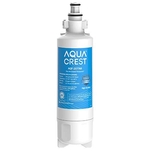 AQUACREST 257760 Kühschrank Wasserfilter, Kompatibel mit Panasonic CNRAH-257760, 125950, NR-B53V1 NR-B53V1-WB/X1D NR-BG53V2 NR-BG53VW2 NR-B53V2-XE, NR-B54X1-WB/E; EcoAqua EFF-6032B; AH-PCN