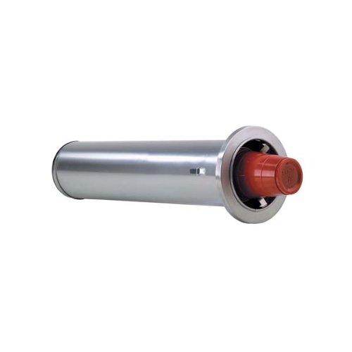 "DISPENSE-RITE ADJ-2 In-Counter Cup Dispenser, Adjustable from 8 oz. to 44 oz, Stainless Steel, 2 Spring, 22"" Length, Rim Diameter Range: 3"" to 4-5/8"""
