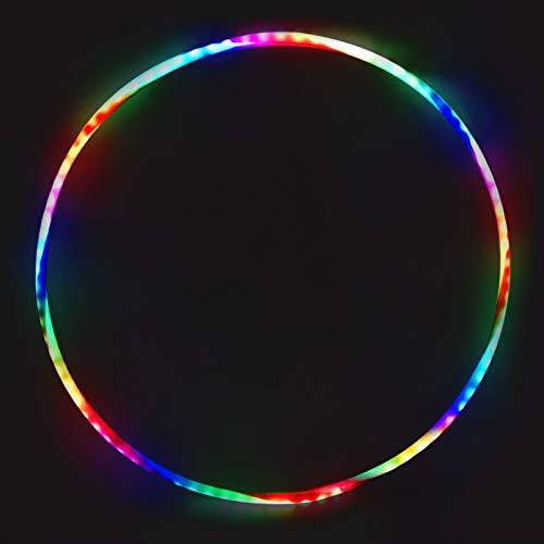 TaimeiMao 60cm Led Gymnastik Kreis für Kinder,LED Tanzen Hoola-Reifen,Fitness Hoola-Reifen,Fitness Gymnastik Kreis zur Gewichtsreduktion und Massage,Abnehmbarer Hoola-Reifen für Erwachsene & Kinde