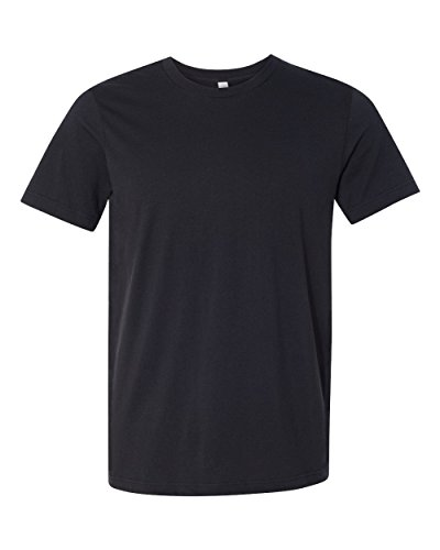 Bella + Canvas Jersey Short-Sleeve T-Shirt (3001C) Vintage Black, L