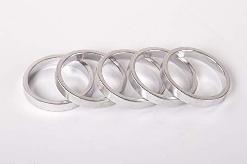 5 Stück Alu Spacer A Head Fahrrad Vorbau Distanz Ring Silber 1 1/8 Zoll 28,6 mm Steuersatz 5mm