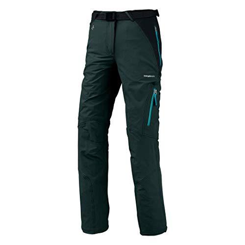 Trangoworld Mekong Pantalons Longs, Femme L Gris (Ombre foncée) / Noir