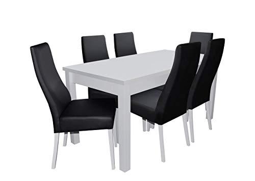 Mirjan24 Esstisch Stuhl Set RB20 Essgruppe, Tischgruppe, Sitzgruppe Esstischgruppe, Esszimmergarnitur (Weiß, Soft 011)