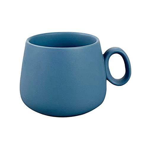 Guanweun Taza de café de cerámica con mango Tazas de té para beber leche único mate colorido contenedor para niñas regalos taza de cerámica mate taza de cerámica
