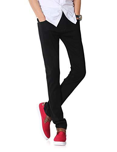 Demon&Hunter Men's Black Skinny Fit Stretch Jeans S8020(27)