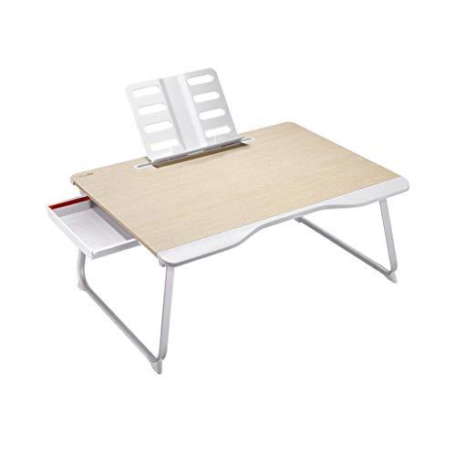 RENJUN Laptop Nachttisch Faltbare Stehpult Movable Lesehalter Schlaf mit Schublade Klapptisch