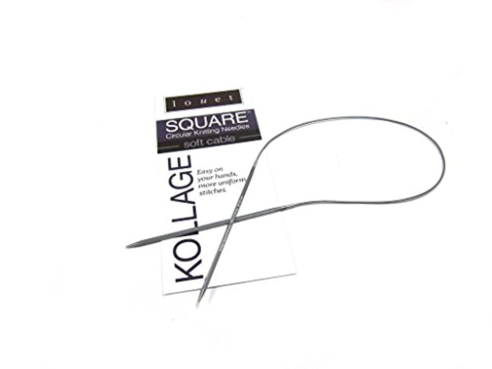 Kollage Square Circular 16-inch (41cm) Knitting Needle with Soft Cable (US 8 / 5mm)