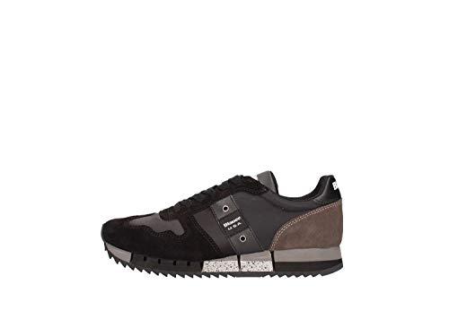 Blauer USA Sneakers Donna Melrose in Tessuto e camoscio Nero (Taglia 40)