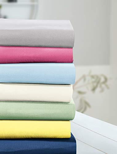 Irisette Parado 0011 Classic-Jersey Spannbettlaken I Größe 100x200 cm I Farbe 10 Weiss