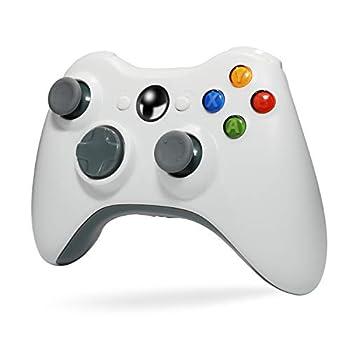 Wireless Controller for Xbox 360 Tiiroy 2.4GHZ Wireless Controller Joystick Gamepad Remote for Xbox360 PC Windows 7,8,10  White
