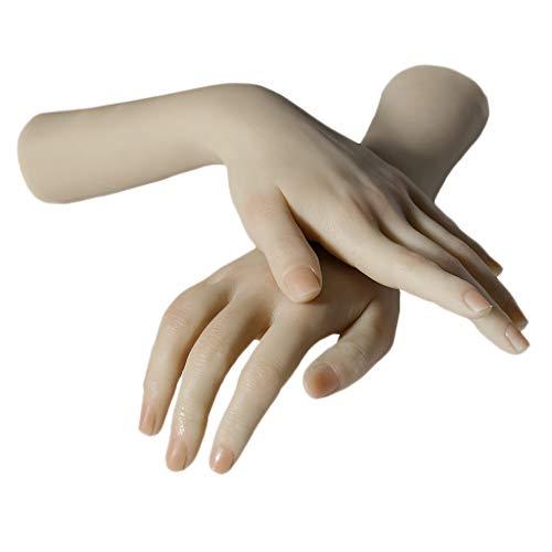MERIGLARE Mannequin De Silicone Souple Professionnel Souple 2 Pièces