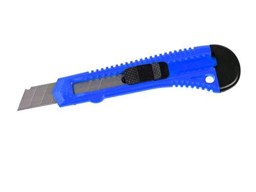 10 Stück Cuttermesser blau | mit 18mm Abbrechklinge | Teppichmesser | Cutter auch zum Basteln, Kartons oder Teppich geeignet