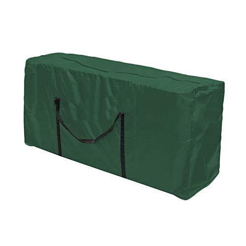 Schutzhülle für Auflagen,Wasserdicht Gartenpolster Aufbewahrungstasche mit Handgriff,Auflagen Garten Kissen Kleidung Weihnachtsbaum Aufbewahrung Aufbewahrungsbeutel (Grün, S)