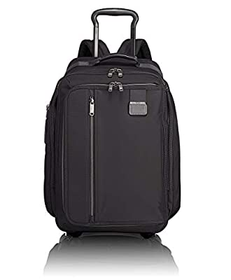TUMI - Merge Wheeled Backpack - 15 Inch Laptop Carry-On Rolling Bag for Men and Women - Black Contrast