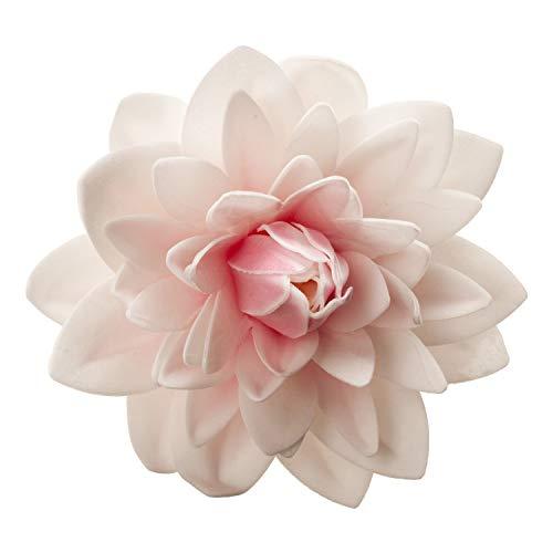 dekora Dalia Gigante Flor Comestible Decoración de Tartas de Cumpleaños Caseras Fácil para Obtener un Pastel con Flores-de Color Rosa de 12,5 cm, Grande