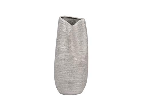 Beliani Extravagante und dekorative Vase in Metall-Look silbern Derbe